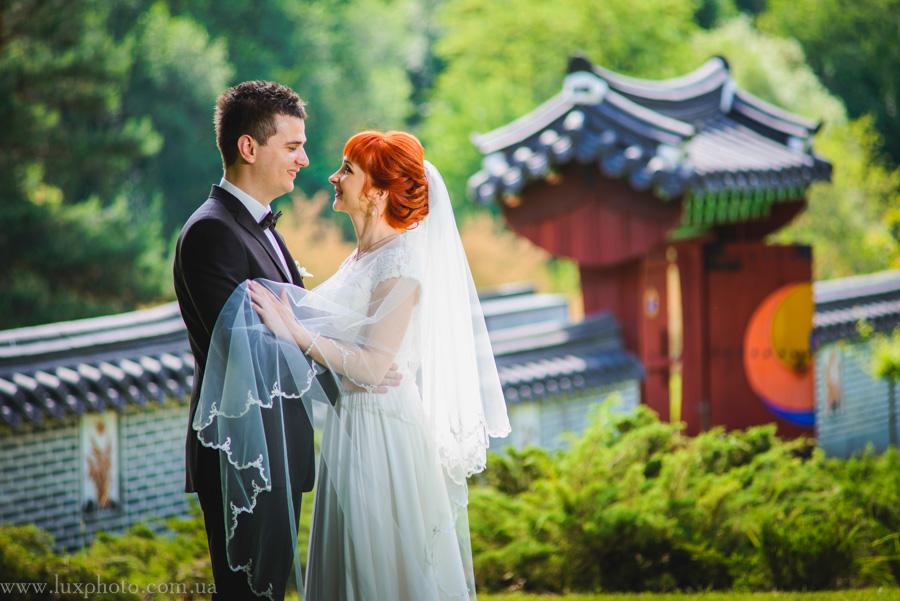 свадебные фотографии в ботаническом саду