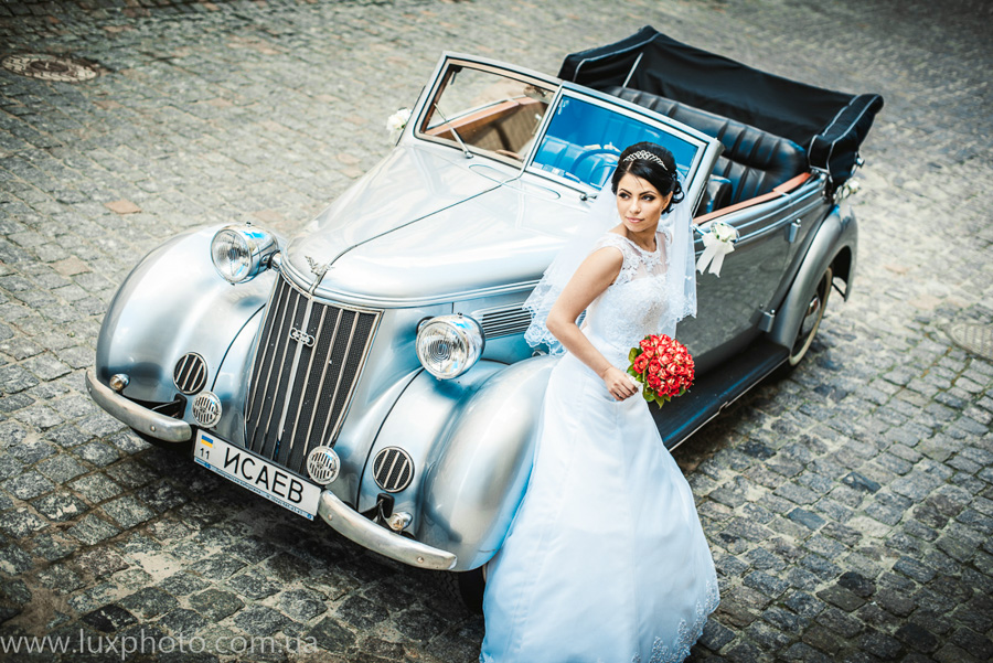 ретро-автомобиль свадьба