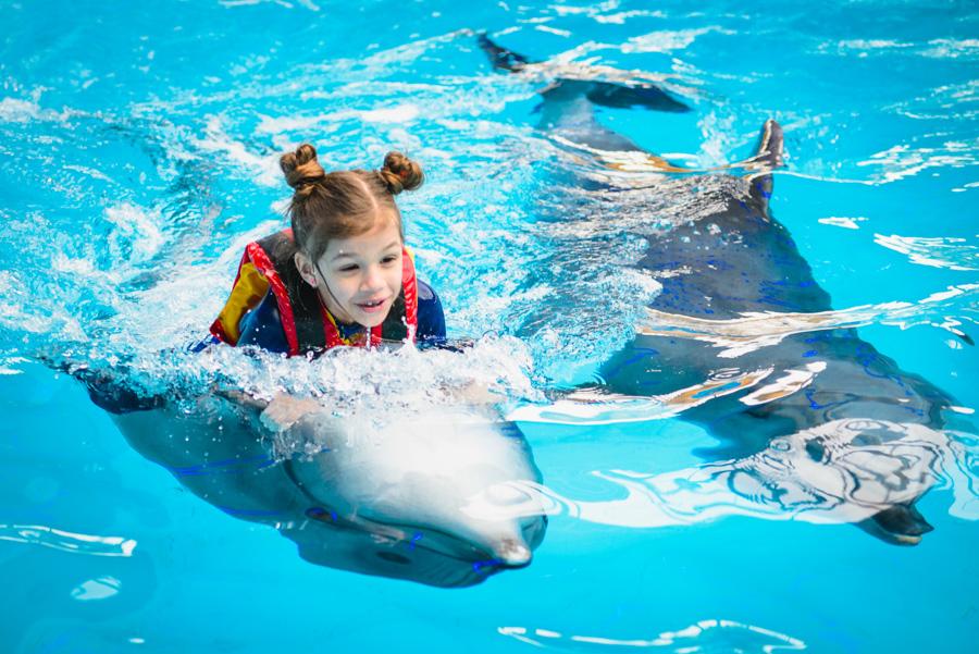 фото детский день рождения в дельфинарии