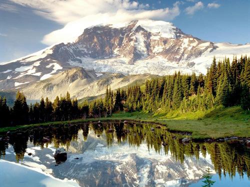 красивое фото высокой горы