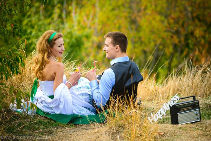 Свадебная фотосессия на Замковой горе