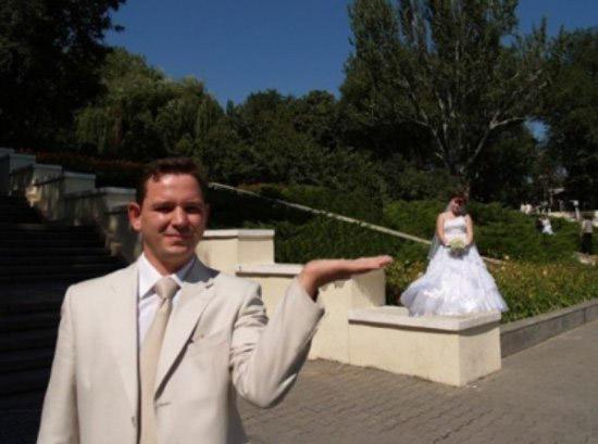 ржачное свадебное фото