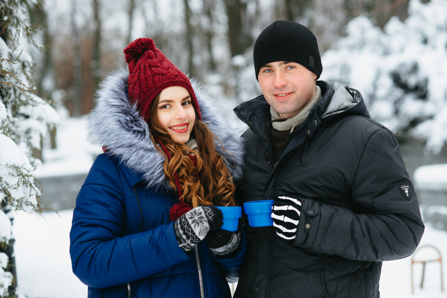 зимнее лавстори Светы и Андрея