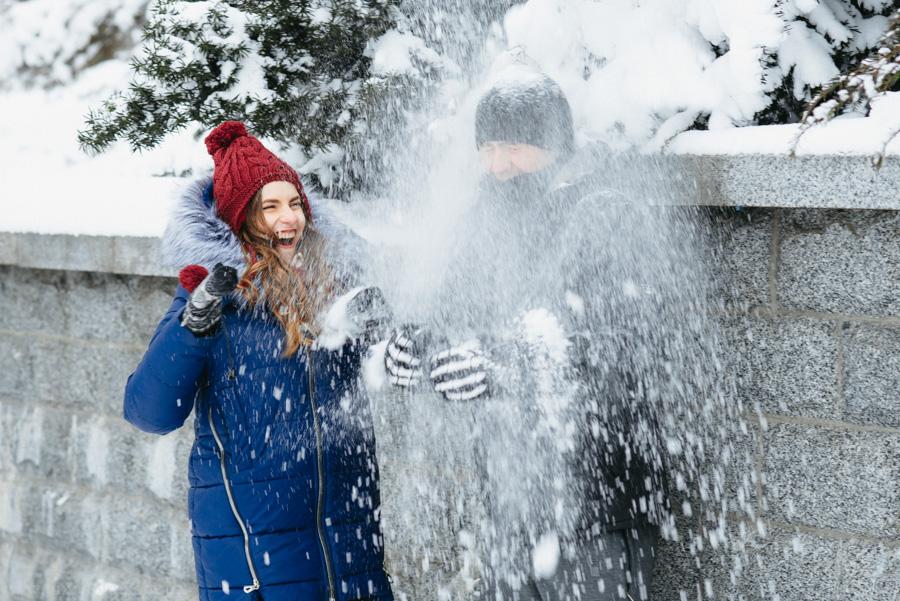 фотосъемка love story зимой в Киеве
