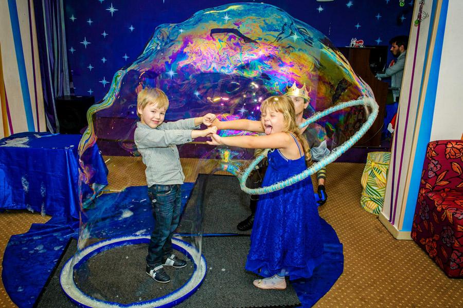 Мыльное шоу на детский праздник