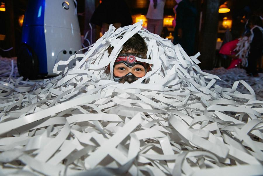 бумажное шоу детский праздник